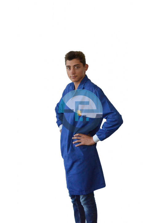 ESD Safe Eurostat Blue Labcoat with conductive cuffs