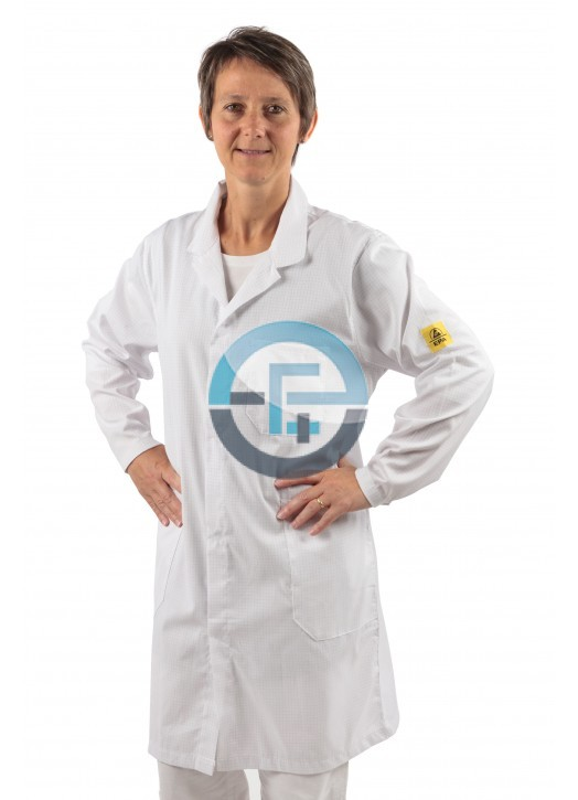 ESD Safe Eurostat Labcoat / white