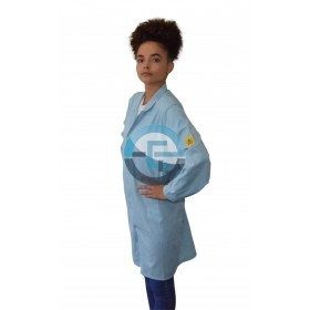 ESD Safe Eurostat Labcoat / light blue