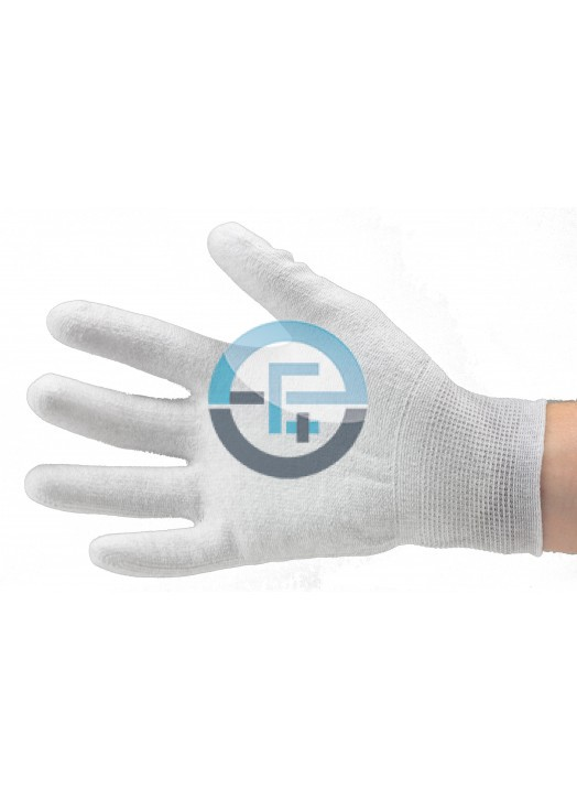 ESD Dissipative Nylon Light Gloves fingers and palm PU coated / grey